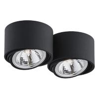 Kaspa - oprawa stropowa natynkowa podwójna - lumos - czarna - czarny