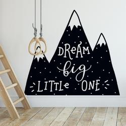 Naklejka na ścianę - dream big little one , wymiary naklejki - szer. 50cm x wys. 50cm