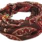 Szalik brązowy orientalne kolorowe wzory damski - brown