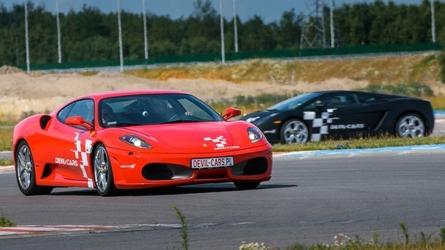 Jazda lamborghini gallardo i ferrari f430 - kierowca - tor olsztyn - 2 okrążenia