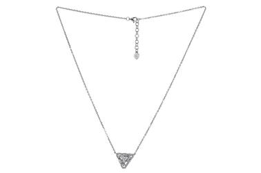 Srebrny naszyjnik trójkąt z cyrkoniami