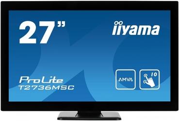 Iiyama monitor 27 t2736msc-b1 amva, 10pkt, pojemnościowy, hdmi, dp, usb