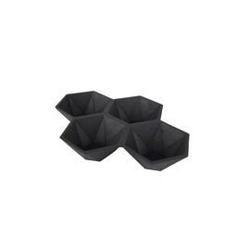 Zuiver :: talerz na przekąski hexagon czarny