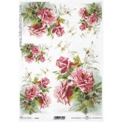 Papier ryżowy ITD A4 R1207 róże