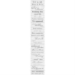 Pasek ze ślubnymi napisami Diamonds - angielskie napisy - angielskie