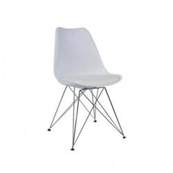 Nowoczesne krzesło do jadalni design białe