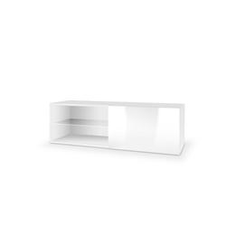 Tres szafka wisząca rtv 120 biała wysoki połysk