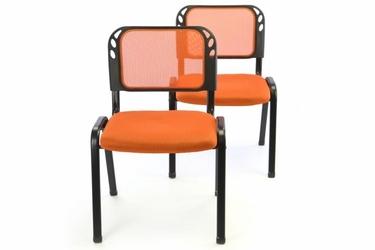 Krzesła konferencyjne pomarańczowe, 2 sztuki