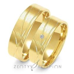 Obrączki ślubne złoty skorpion – wzór au-a134