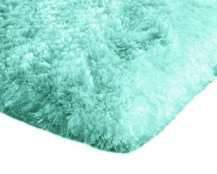 Dywan pluszowy mikrofibra wysoki shaggy 120x170 miętowy