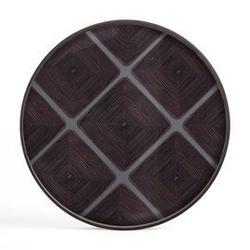 Ethnicraft :: taca dekoracyjna slate linear squares okrągła brązowa rozm. xl