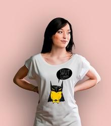 Batman shut up t-shirt damski biały xxl