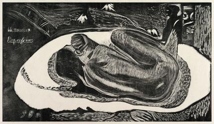 Spirit of the dead watching, paul gauguin - plakat wymiar do wyboru: 50x40 cm