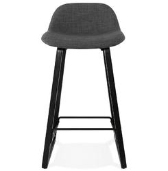 Nowoczesny hoker trapu mini z tapicerowanym siedziskiem  nogi czarne + szare siedzisko