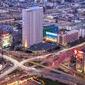 Warszawa centrum - plakat premium wymiar do wyboru: 84,1x59,4 cm