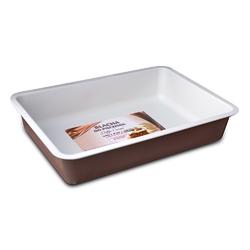 Forma  blacha do pieczenia ciasta snb caffe creme prostokątna 34 x 23 cm