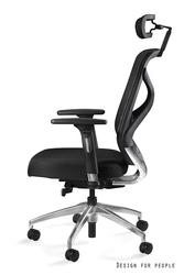 Czarny obrotowy fotel biurowy hero b-blh tkanina