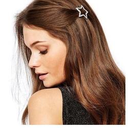 Spinka do włosów gwiazda srebrna cyrkonie