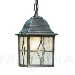 Genoa lampa wisząca 1 czarny srebrny szkło