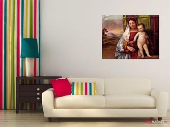 madonna cygańska madonna z dzieciątkiem - tycjan ; obraz - reprodukcja