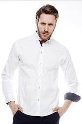 Koszula slim-fit crsm - biały 16010-1