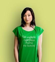 Najlepsza mama t-shirt damski zielony xxl