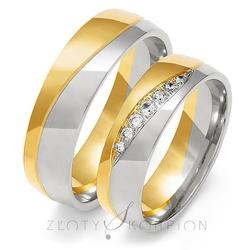 Obrączki ślubne złoty skorpion – wzór au-oe216