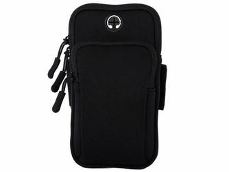 Etui torba armband opaska na ramię do telefonu Alogy SportBag czarne - Czarny