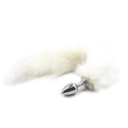 Plug anale con coda long fox tail bianca