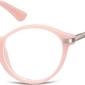 Okulary dziecięce zerówki okrągłe lenonki ak50d jasne różowe