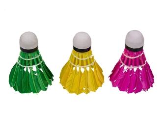 Lotki do badmintona vivo piórowe kolorowe 3szt c-200