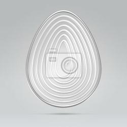 Fototapeta srebrny drut ilustracja koncepcja jaj