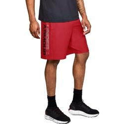 Spodenki krótkie męskie under armour woven graphic wordmark short - czerwony