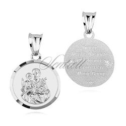 Srebrny medalik pr.925 - święty józef