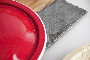 Pokrywa emaliowana 20 cm czerwony