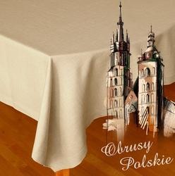 Obrus polski jasny len greno 150 x 300