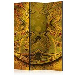 Parawan 3-częściowy - mandala: złota siła room dividers