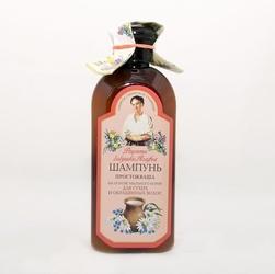 Babuszka agafia szampon zsiadłe mleko na bazie korzenia z mydlnicy lekarskiej – do włosów suchych i farbowanych, 350ml