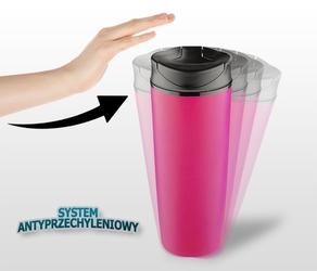 Kubek termiczny still 450 ml różowy