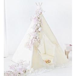 Namiot tipi dla dziecka waniliowa królewna - zestaw