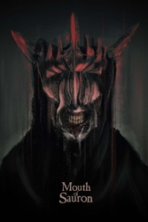 Władca pierścieni usta saurona - plakat premium wymiar do wyboru: 40x50 cm