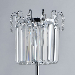 Lampa stołowa kryształowa, chromowana podstaw adelard mw-light crystal 642033101