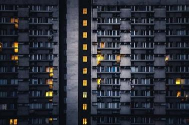 Warszawa wieżowce sen o mieście - plakat premium