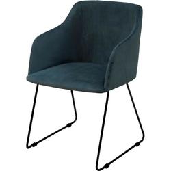 Krzesło casa niebieskie welur