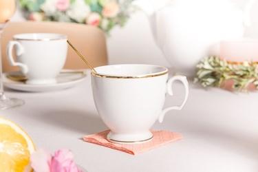 Filiżanka do kawy porcelana karolina mariapaula złota linia 220 ml