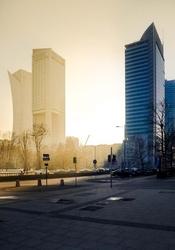 Warszawa ciepło zimno - plakat premium wymiar do wyboru: 29,7x42 cm