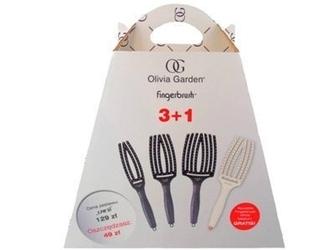 Olivia garden fingerbrush 3+1 zestaw profesjonalnych szczotek z włosiem dzika