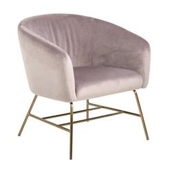 Designerski fotel wypoczynkowy na złotej podstawie warren vic