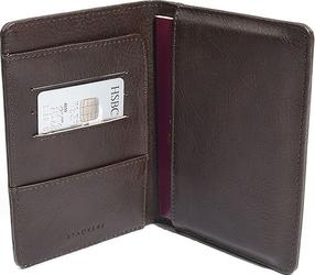 Etui na paszport stackers brązowe