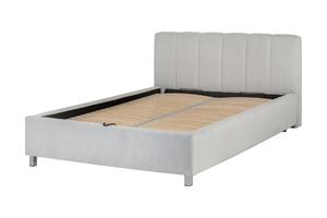 Łóżko z pojemnikiem 160x200 cm laroza szare